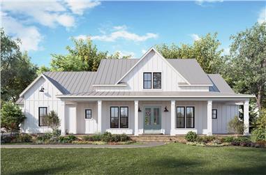 4-Bedroom, 3407 Sq Ft Modern Farmhouse Home Plan - 206-1035 - Main Exterior