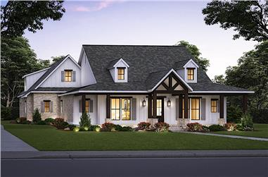 4-Bedroom, 2977 Sq Ft Cottage Home - Plan #206-1037 - Main Exterior