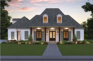 4-Bedroom, 2863 Sq Ft Acadian Home - Plan #206-1038 - Main Exterior