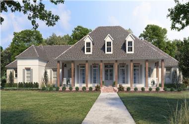 4-Bedroom, 3535 Sq Ft Ranch Home - Plan #206-1042 - Main Exterior
