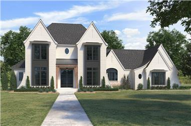 4-Bedroom, 3976 Sq Ft French Home - Plan #206-1043 - Main Exterior