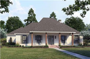 4-Bedroom, 2175 Sq Ft Acadian House - Plan #206-1047 - Front Exterior