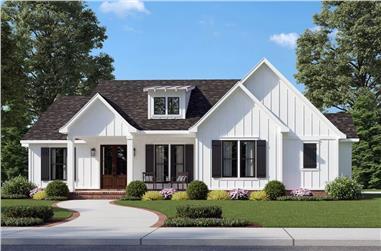 3-Bedroom, 1676 Sq Ft Modern Farmhouse  - Plan #206-1049 - Main Exterior