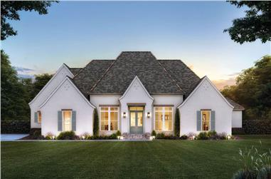 4-Bedroom, 2666 Sq Ft French House - Plan #206-1050 - Front Exterior