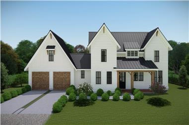 3-Bedroom, 2063 Sq Ft Farmhouse Home - Plan #207-1000 - Front Exterior