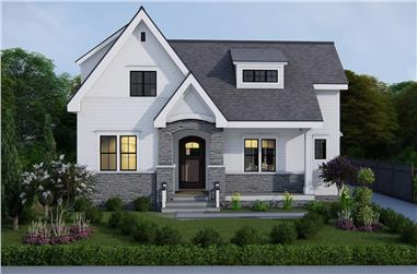 3-Bedroom, 2589 Sq Ft European House - Plan #207-1001 - Front Exterior