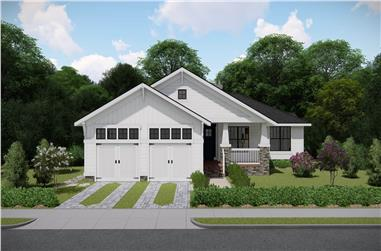 3-Bedroom, 2017 Sq Ft Ranch House - Plan #207-1002 - Front Exterior