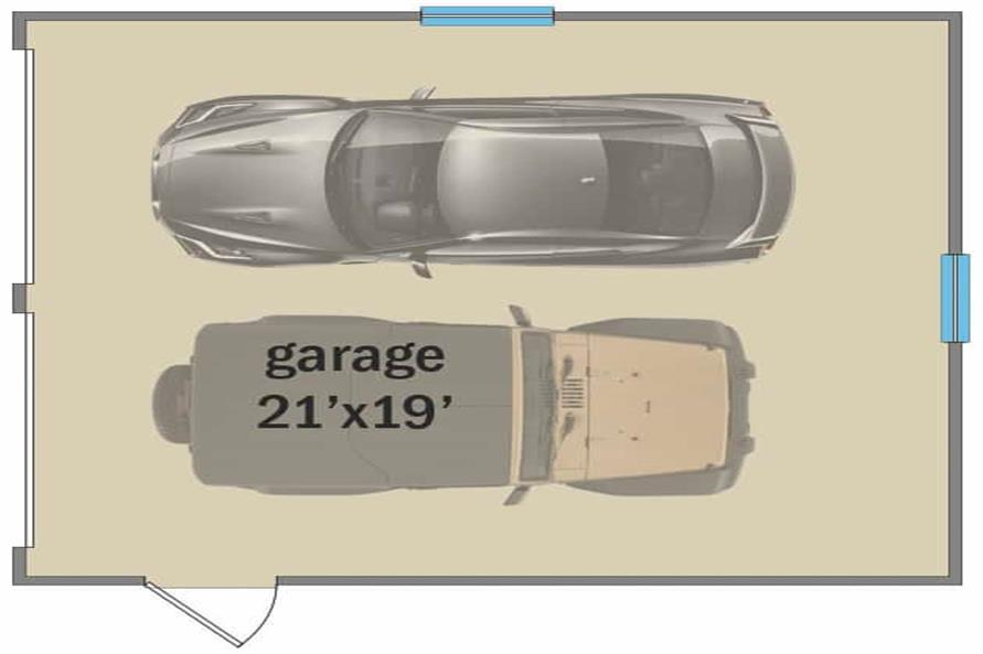 Garage of this 4-Bedroom,3328 Sq Ft Plan -207-1004