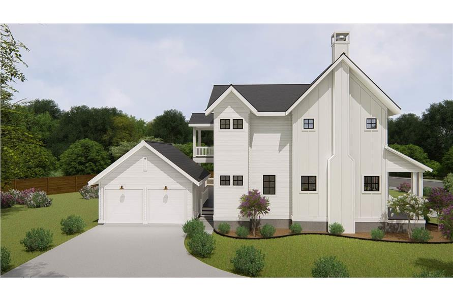Left View of this 4-Bedroom,3328 Sq Ft Plan -207-1004