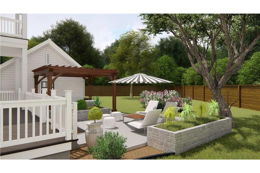 Patio of this 4-Bedroom,3328 Sq Ft Plan -207-1004