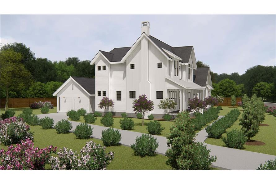 Side View of this 4-Bedroom,3328 Sq Ft Plan -207-1004