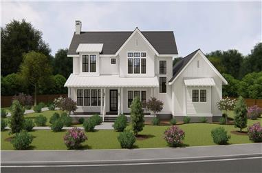 4-Bedroom, 3328 Sq Ft Modern Farmhouse House Plan - 207-1004 - Front Exterior