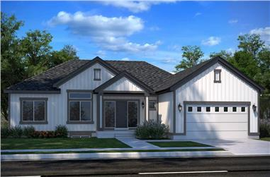 4–7-Bedroom, 2051 Sq Ft Ranch House - Plan #208-1002 - Front Exterior