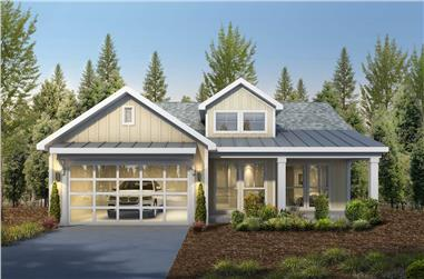 2-Bedroom, 1419 Sq Ft Cottage House - Plan #208-1003 - Front Exterior