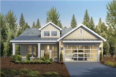 2-Bedroom, 1419 Sq Ft Contemporary Cottage - Plan #208-1003 - Front Exterior