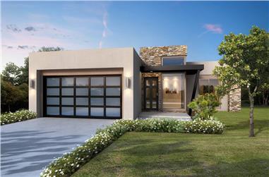 2-Bedroom, 1417 Sq Ft Modern Home - Plan #208-1004 - Main Exterior