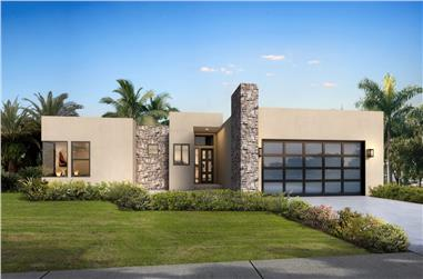 3-Bedroom, 1791 Sq Ft Modern House - Plan #208-1005 - Front Exterior
