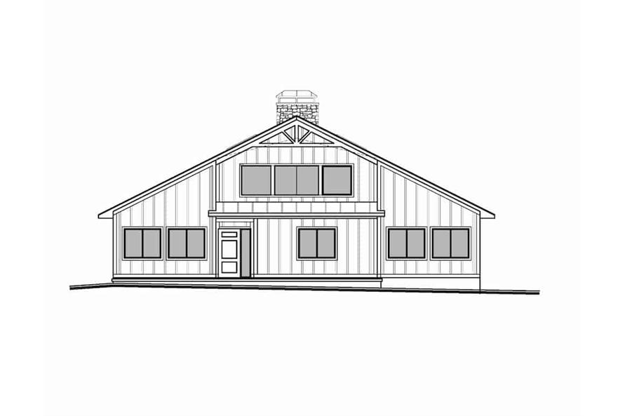 Home Plan Front Elevation of this 3-Bedroom,2838 Sq Ft Plan -208-1007