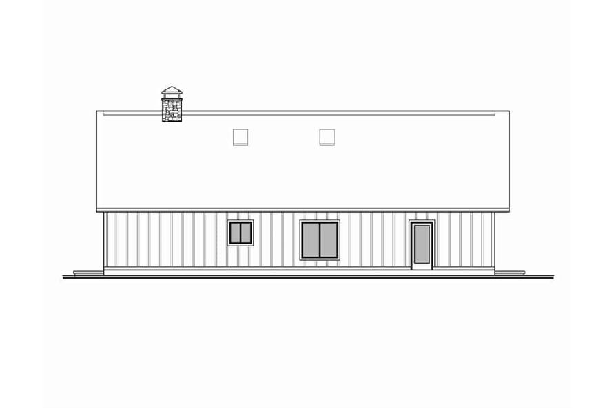 Home Plan Left Elevation of this 3-Bedroom,2838 Sq Ft Plan -208-1007