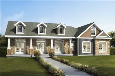 3-Bedroom, 1582 Sq Ft Ranch Home - Plan #208-1010 - Main Exterior