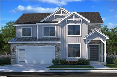 4-Bedroom, 2381 Sq Ft Country House - Plan - 208-1011 # Front Exterior