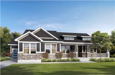2-4-Bedroom, 2301 Sq Ft Ranch Home - Plan #208-1012 - Main Exterior