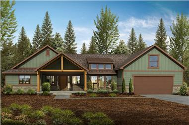 4-Bedroom, 2918 Sq Ft Country Home - Plan #208-1013 - Main Exterior
