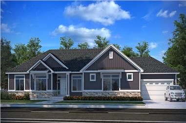 3–6-Bedroom, 2143 Sq Ft Country Home - Plan #208-1015 - Main Exterior