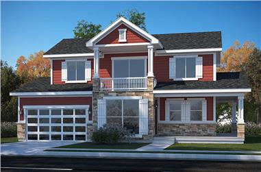 3-Bedroom, 1842 Sq Ft Traditional Home - Plan #208-1016 - Main Exterior