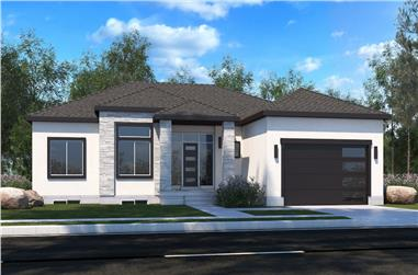 4–8-Bedroom, 2000 Sq Ft Ranch House - Plan #208-1019 - Front Exterior