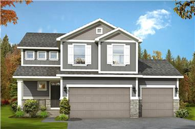 3-Bedroom, 1884 Sq Ft Traditional House - Plan #208-1020 - Front Exterior