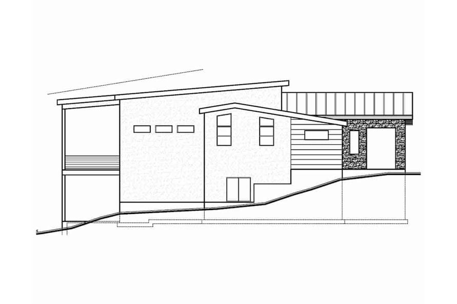 Home Plan Left Elevation of this 5-Bedroom,3641 Sq Ft Plan -208-1021