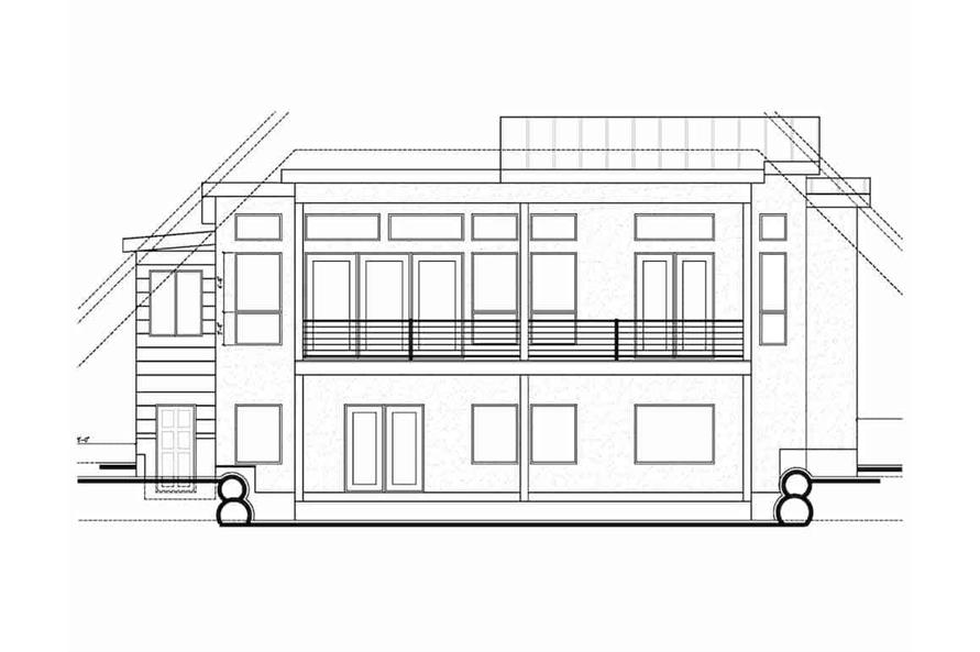 Home Plan Rear Elevation of this 5-Bedroom,3641 Sq Ft Plan -208-1021