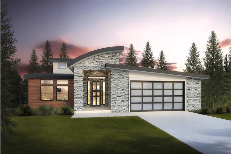 5-Bedroom, 3641 Sq Ft Contemporary Home - Plan #208-1021 - Main Exterior