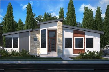 3-Bedroom, 1791 Sq Ft Contemporary Home - Plan #208-1023 - Main Exterior