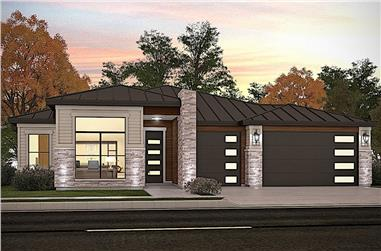 3-Bedroom, 2206 Sq Ft Contemporary House - Plan #208-1024 - Front Exterior