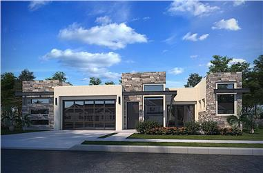 4-Bedroom, 2517 Sq Ft Modern House - Plan #208-1026 - Front Exterior