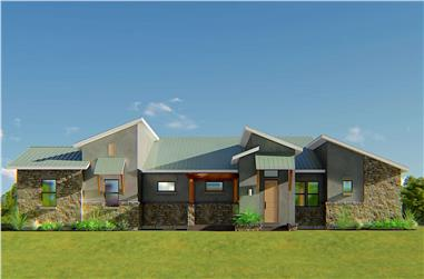 3-Bedroom, 2129 Sq Ft Contemporary House - Plan #209-1000 - Front Exterior
