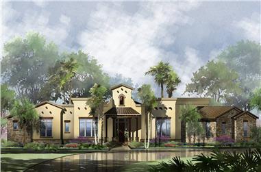 4-Bedroom, 2789 Sq Ft Southwest Home - Plan #209-1002 - Main Exterior