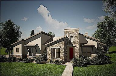 4-Bedroom, 2713 Sq Ft Contemporary Home - Plan #209-1003 - Main Exterior