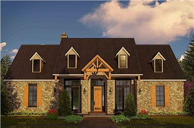 3-Bedroom, 2596 Sq Ft Cottage House - Plan #209-1004 - Front Exterior