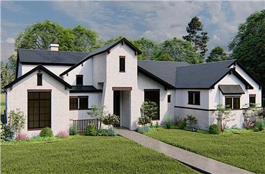 4-Bedroom, 3061 Sq Ft European Home - Plan #209-1006 - Main Exterior