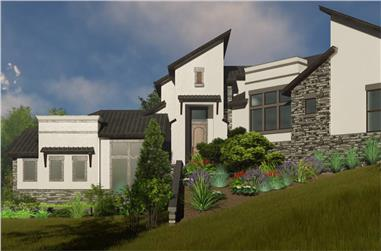 3–4-Bedroom, 3010 Sq Ft Contemporary House - Plan #209-1007 - Front Exterior