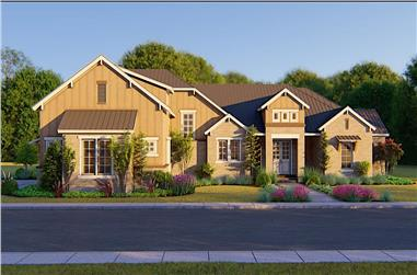 4-Bedroom, 3220 Sq Ft Luxury House - Plan #209-1008 - Front Exterior