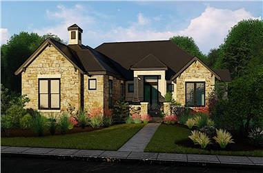 3-Bedroom, 3381 Sq Ft Ranch Home - Plan #209-1009 - Main Exterior