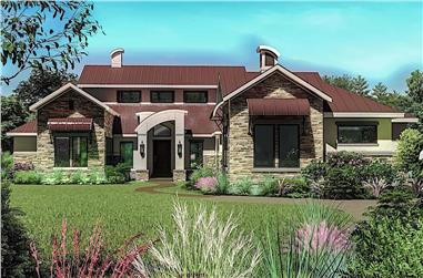 4-Bedroom, 3493 Sq Ft Contemporary Home - Plan #209-1011 - Main Exterior