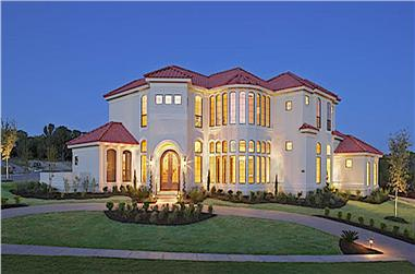 4-Bedroom, 3804 Sq Ft Luxury Home - Plan #209-1012 - Main Exterior