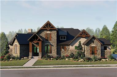 4-Bedroom, 3886 Sq Ft Texas Style House - Plan #209-1013 - Front Exterior