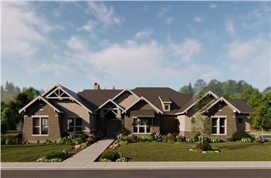4-Bedroom, 4420 Sq Ft Arts and Crafts Home - Plan #209-1014 - Main Exterior