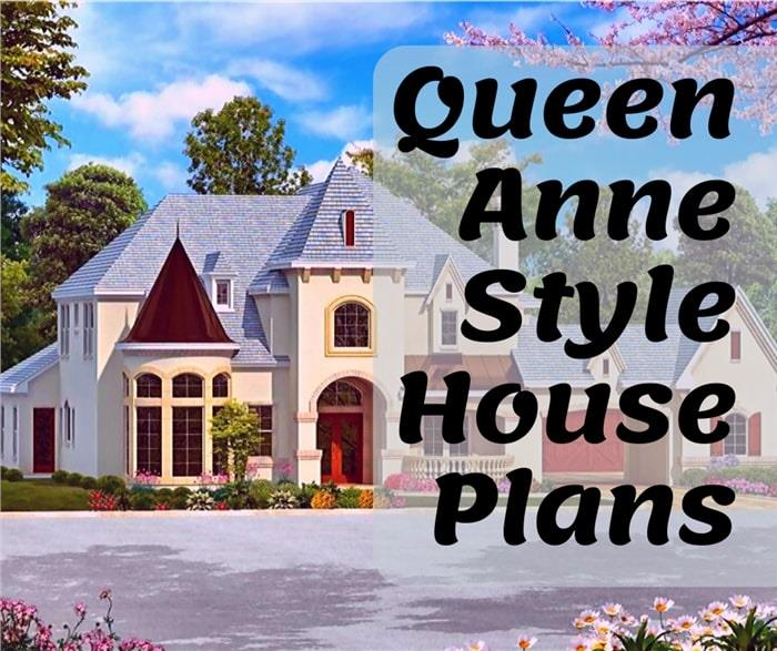 Victorian home illustrating article about Queen Anne Style House Plans